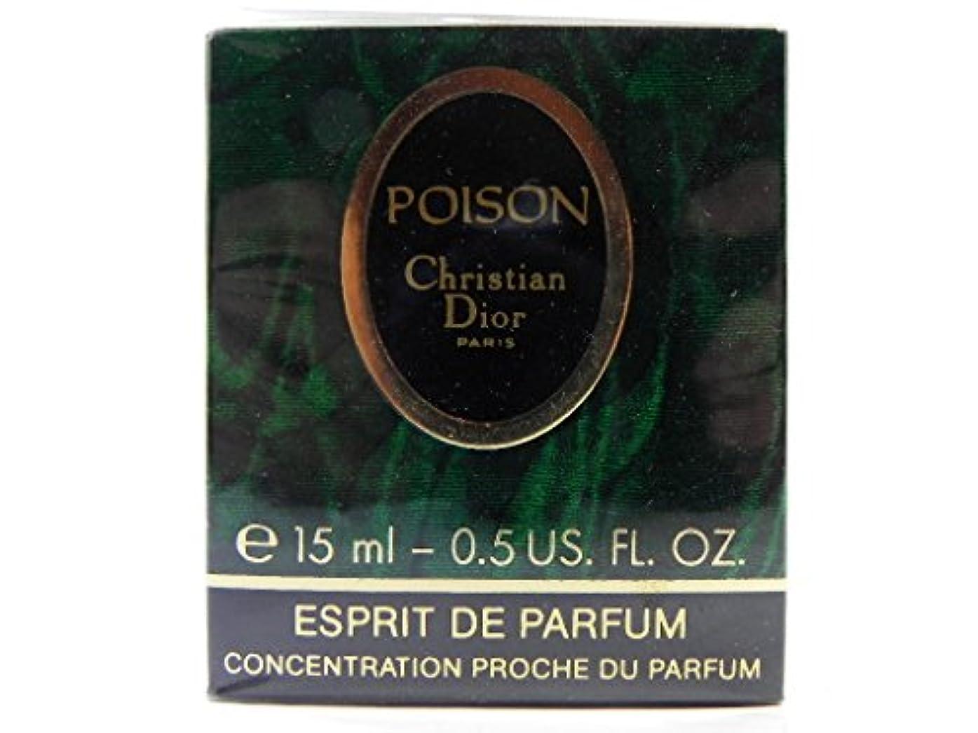部屋を掃除するフィドルつなぐクリスチャンディオール Christian Dior プワゾン POISON エスプリドゥパルファム ESPRIT DE PARFUM 15ml ボトルタイプ [並行輸入品]