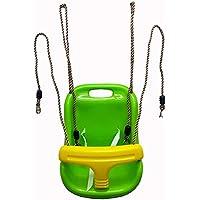 ブランコ【グリーン】キッズブランコ 背もたれ付き 野外 室内 アウトドア 遊具