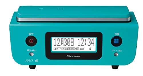 RoomClip商品情報 - Pioneer デジタルコードレス電話機 親機のみ 迷惑電話対策・留守番・ナンバーディスプレイ機能搭載 ターコイズブルー TF-FD31S-A