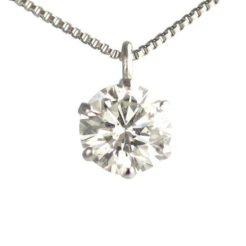 【 DIAMOND WORLD 】レディース ジュエリー PT900 ダイヤモンド ペンダントネックレス 0.35ct Hカラー SI2クラス Goodカット GGSJ ソーティング (鑑定書の元)付