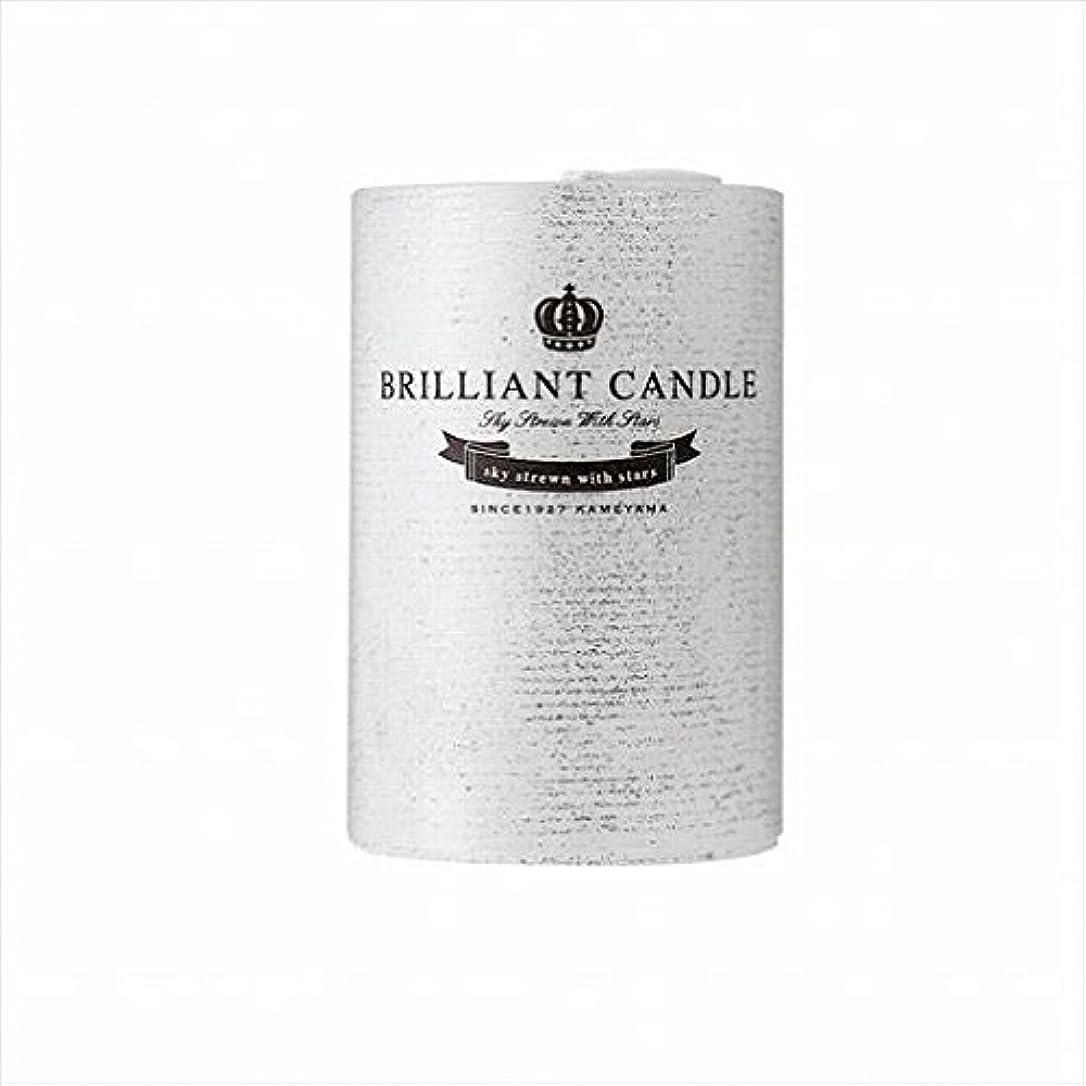 タイピスト事フェードカメヤマキャンドル(kameyama candle) ブリリアントピラー2×3 「 パール 」