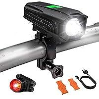 自転車ライト ヘッドライト テールライトセット LITOM 高輝度 USB充電式 IP65防塵防水 8種のモード サイクリング 夜道走行 防災