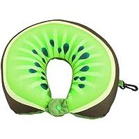 Kongqiabona Fruit U Shaped Pillow Travel Kiwi/Orange Pillows Cushion Foam Particles Neck Pillow Car Travel Pillow