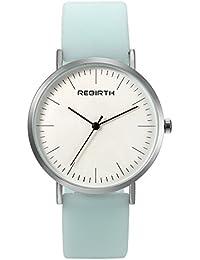 レディース 腕時計 可愛い シンプル 防水 アナログ 薄い シリコンベルト 日本製クオーツ 人気 カジュアル ファッション レディース アクセサリー グリーン