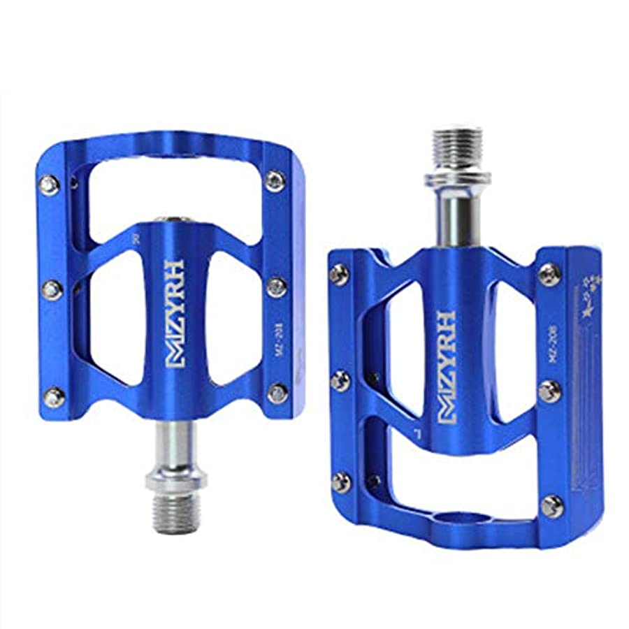 評価珍しいを通してバイクペダル、CNC機械加工アルミニウム合金ボディ、9/16