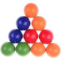 Dingjin 10個Infants Early Childhoodプラスチックボールシェイカー幼児用Rattle Ballおもちゃ赤ちゃん教育玩具、5色