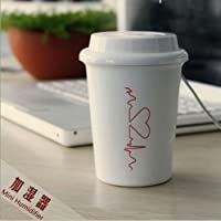 【GLMT】かわいい 卓上 加湿器 USB 充電式 コーヒーカップ型 コンパクト 超音波式 車載可