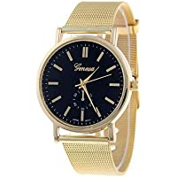 NAVIFORCE Women's Wrist Watch Quartz Gold Casual Watch Analog Ladies Casual Fashion Dress Watch - Brown Red Green One Year Battery Life