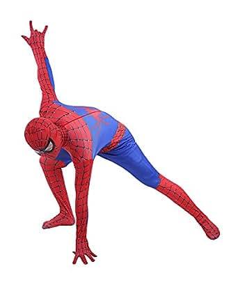 Dressystarスパイダーマン イベント 通気 柔らかい セクシー 全身タイツ 100-110cm