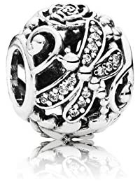 PANDORA Charms Hollow Dragonfly Flower Field Charm