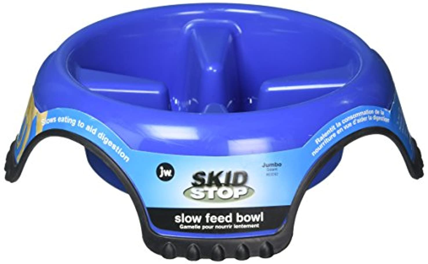 JW PET SLOW FEED SKID STOP Dog Bowl - Slows Eating Helps Digestion JUMBO