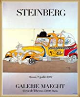 ポスター ソウル スタインバーグ タクシー 1977年 額装品 ウッドベーシックフレーム(ナチュラル)