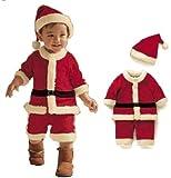 ベビー サンタ コスプレ クリスマス 子供 衣装80cm 90cm 100cm  男の子 (100)