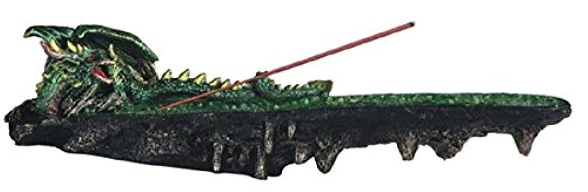 クランプ種煙虹色LSMグリーン色ドラゴンResting香炉、10