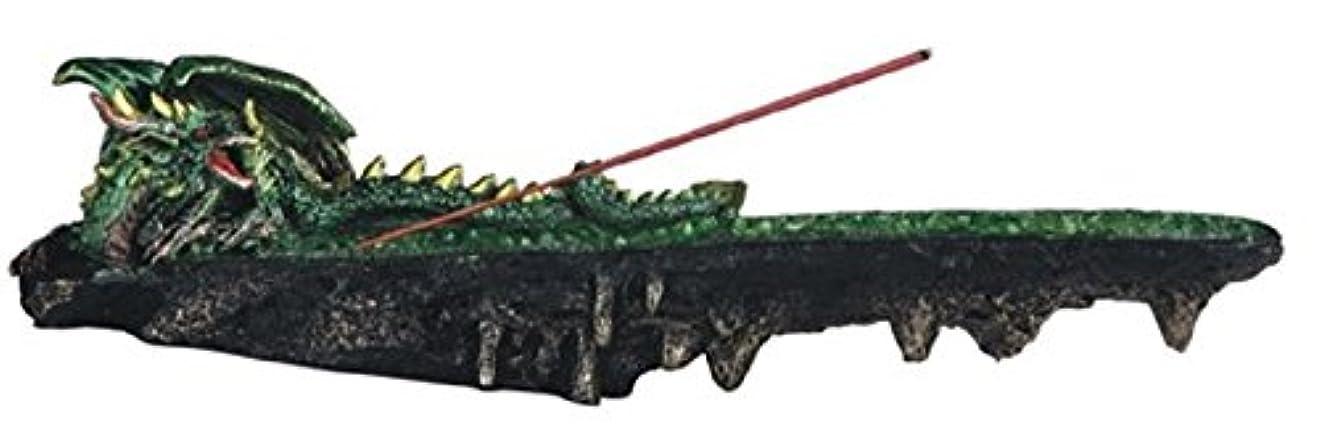 機会対話征服する虹色LSMグリーン色ドラゴンResting香炉、10