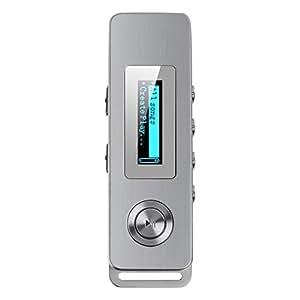 AGPtEK K10 容量8GB 小型ボイスレコーダー 録音機 音楽再生機能付き ストラップ穴付け 保証1年 (ゴールデン)