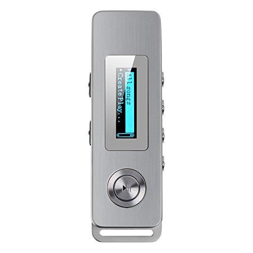 AGPtEK 容量8GB 小型ボイスレコーダー 録音機 音楽再生機能付き ストラップ穴付け(ゴールデン)