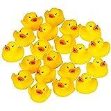 60 Pcs Mini Bathtime Rubber Ducks Bath Toys Baby Shower Duckies