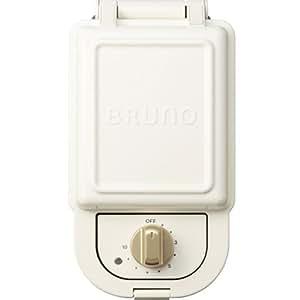 ブルーノ BRUNO ホットサンドメーカー 耳まで焼ける 電気 シングル ホワイト BOE043-WH