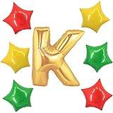 アドワン 数字 風船 バルーン 飾り付け 誕生日 ゴールド 大きい 数字1~9 文字 記念日 お祝い (K)