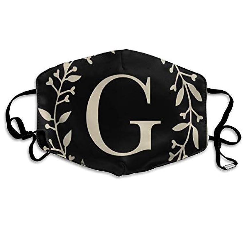 マニュアル無声でキャロラインマスク アルファベットG 立体構造マスク ファッションスタイル マスク ほこり対応マスク 繰り返し使え 肌荒れしない 風邪対応風邪予防 男女兼用