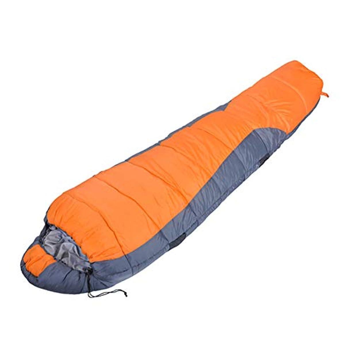 として全く凍るDurable,breathable,comfortableミイラ寝袋、暖かい通気性の睡眠バッグポータブル軽量大人の睡眠パッドキャンプハイキング野外活動,Orange,220*80cm