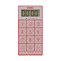 (まとめ) DRETEC キッチンタイマー 光と音で時間をお知らせ デジタルタイマー スリムキューブ T-520PK【×5セット】 ds-1762959