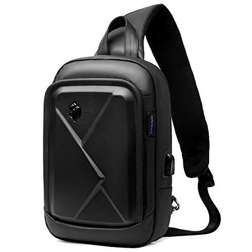 2019年新品 ボディバッグ メンズ USBポート 大容量 防水 多機能 軽...