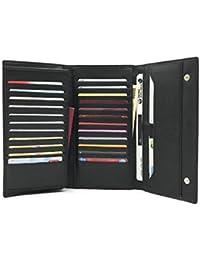 [RITTA BERA] 使いたいカードがすぐ見つかる たっぷり カード収納 長財布 合成皮革 PU レザー 大容量 カードケース メンズ 小銭入れあり