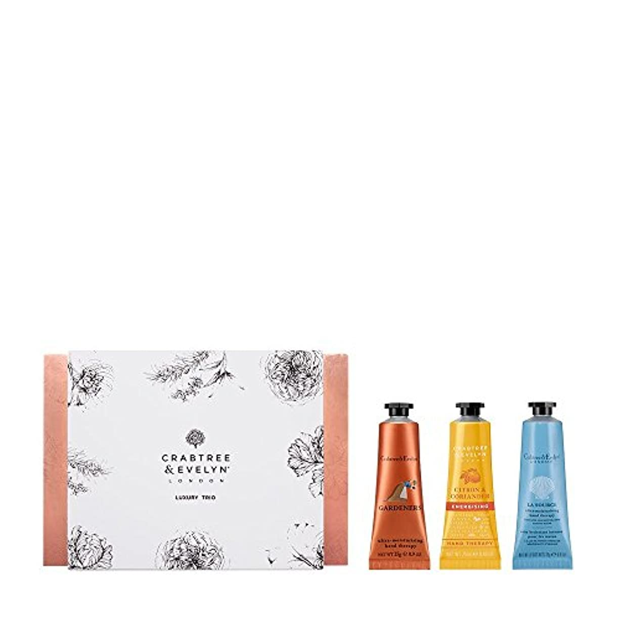 スカープ王朝ナインへクラブツリー&イヴリン Luxury Hand Therapy Trio (1x Citron & Coriander, 1x Gardeners, 1x La Source) 3x25ml/0.86oz並行輸入品
