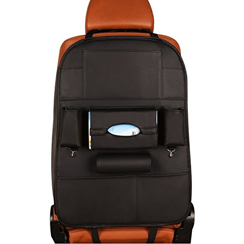 車用シートバックポケット 車用収納ポケット キックガード 後部座席収納 大容...