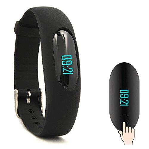GanRiver ウェアラブル歩数計 スマートブレスレット リストバンド 消費カロリー 活動距離 睡眠計 簡易版健康管理腕時計 フィットネストラッカー IP64防水 日本語説明書対応