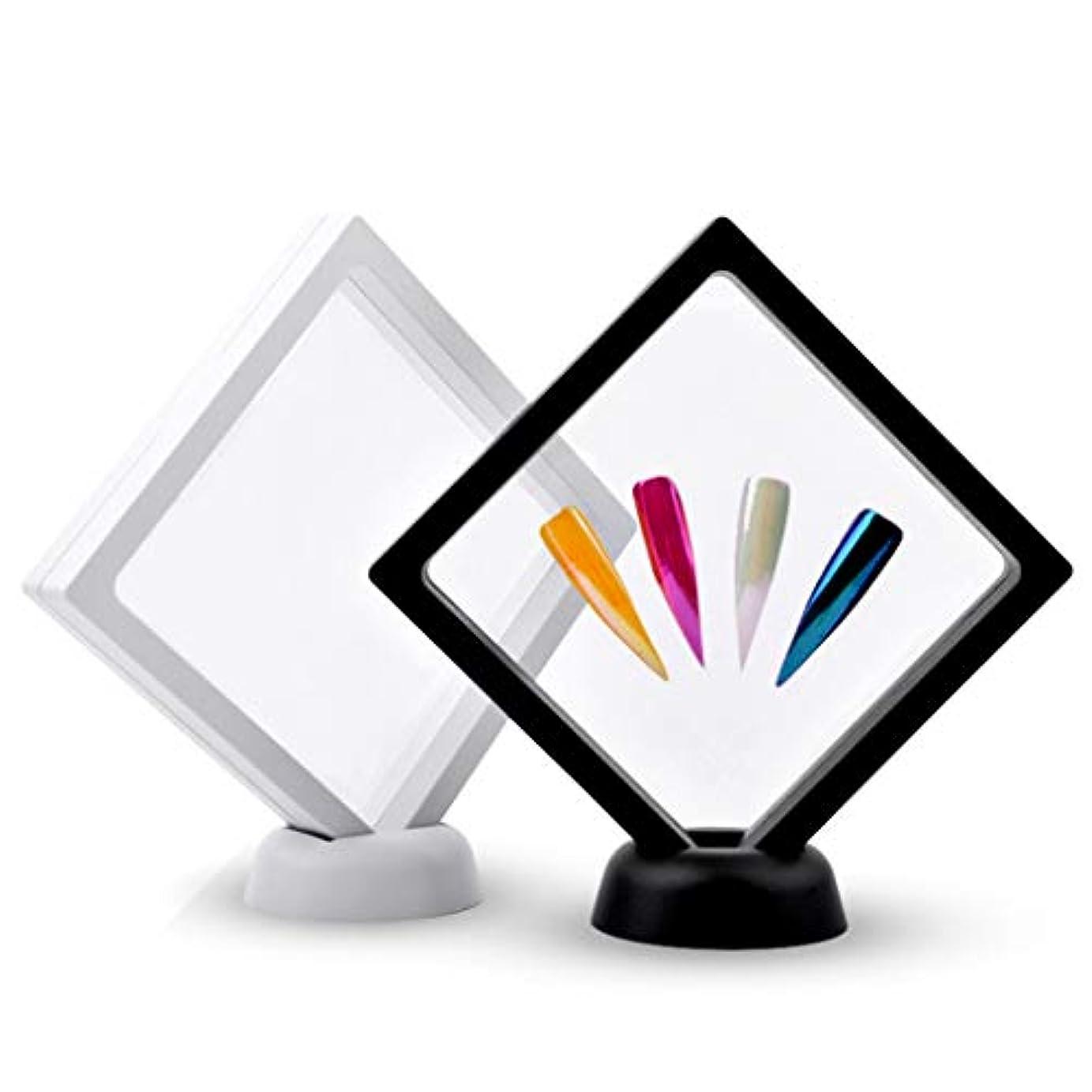 かんがいバラエティ政策DYNWAVE 作品ネイルアートディスプレイパネル 透明 2本セット