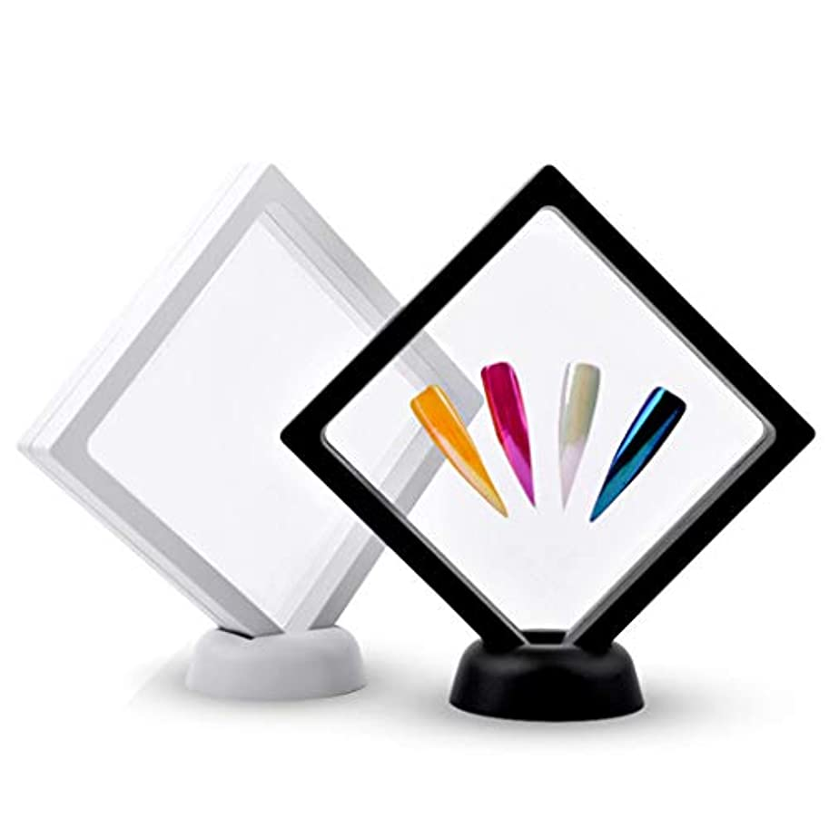 お嬢寮居心地の良いDYNWAVE 作品ネイルアートディスプレイパネル 透明 2本セット