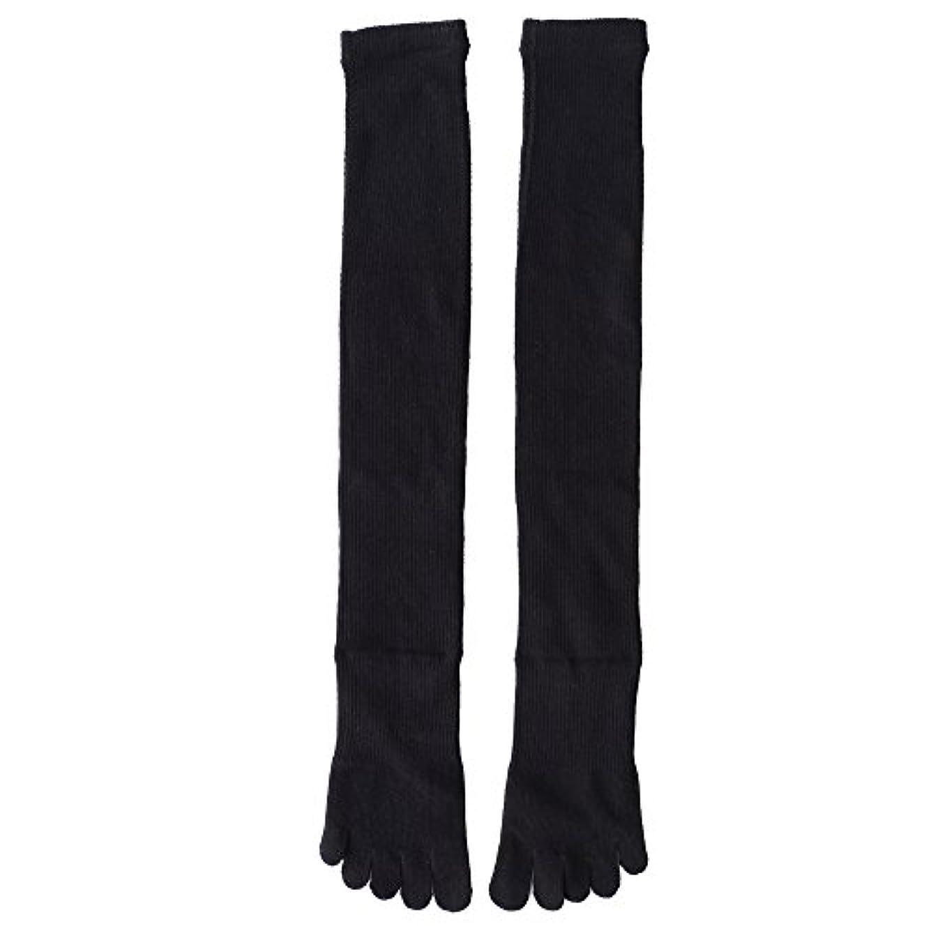 またはどちらか同様のデクリメント日本製靴下 5本指 着圧オーバニーハイソックス