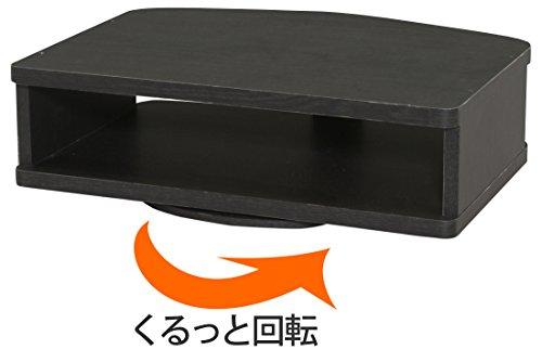 アイリスオーヤマ テレビ台 回転 薄型TV用 26V型以下対応 ブラック KAT-26B