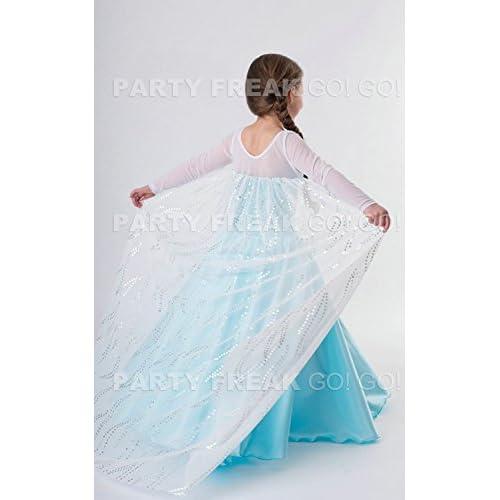 【ノーブランド品】 アナと雪の女王 / Frozen 風 子供用 ドレス 衣装(120cm, エルサ ドレスDX)