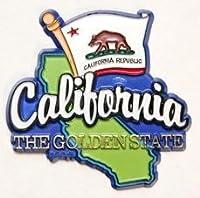 カリフォルニア状態map-flag冷蔵庫Collectibleお土産マグネット