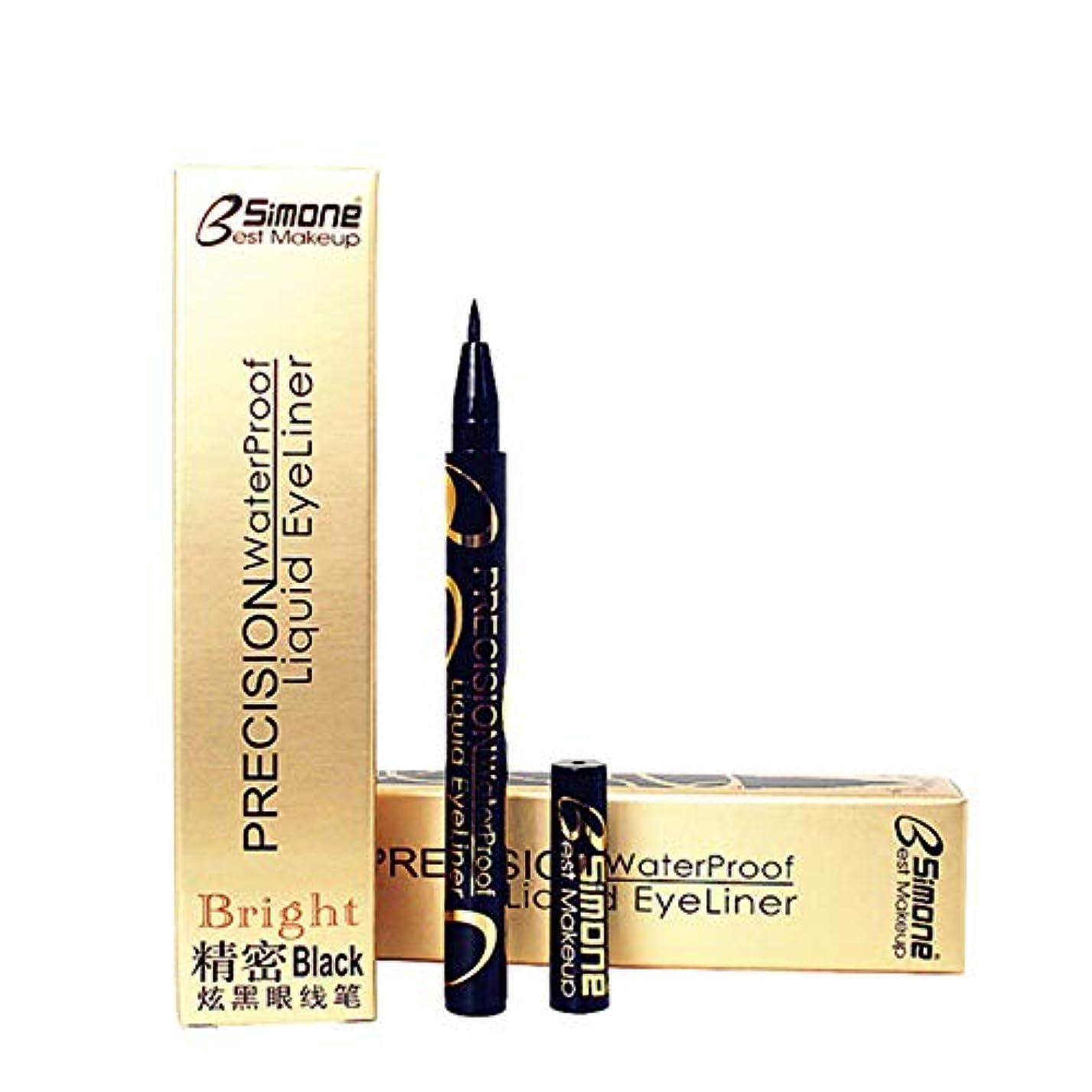 味わうカートン抵抗新しい防水美容メイク化粧品アイライナーペンシルブラックリキッドアイライナーペン