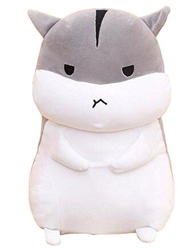 薩牧徳 ハムスター おもちゃ 抱きまくら ぬいぐるみ 可愛い フワフワ プレゼント 贈り物 (50cm, グレー3)