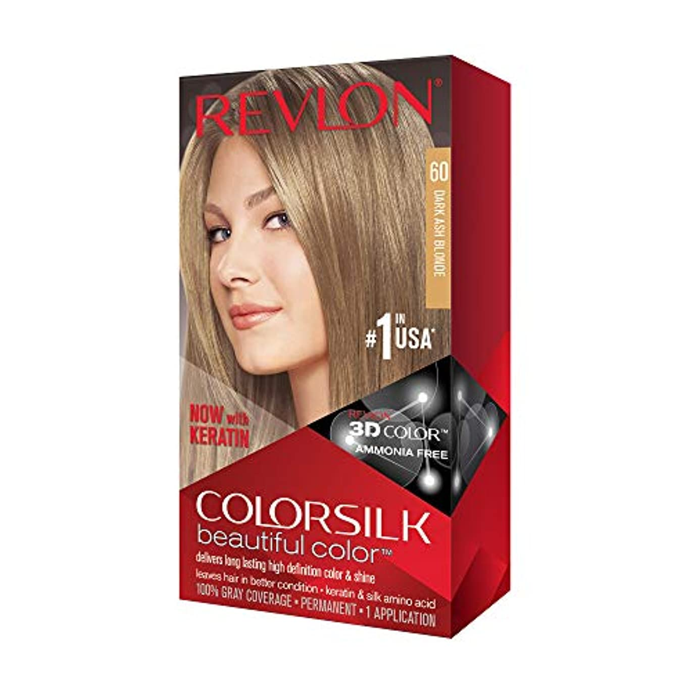 トーン若い国内のRevlon Colorsilk Haircolor #60 Dark Ash Blonde 6A (並行輸入品)