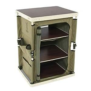 DOD(ディーオーディー) マルチキッチンテーブル 引き上げるだけで棚が完成 ぐらつかないロック機構 TB1-38M