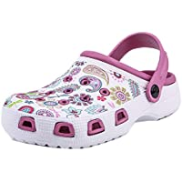 VulusValas Girls Closed Toe Mules Sandals Shoes