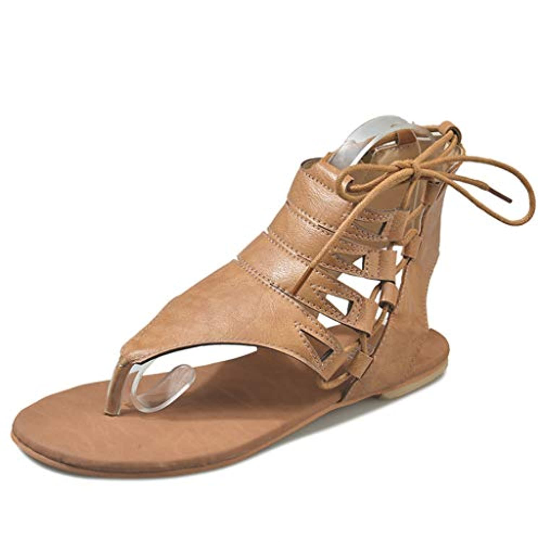 レディース サンダル Tongdaxinxi レディース レディース ソリッドファッション サンダル カジュアル ローマン シューズ 大きいサイズ かわいい 靴 可愛い フラット レディース サンダル