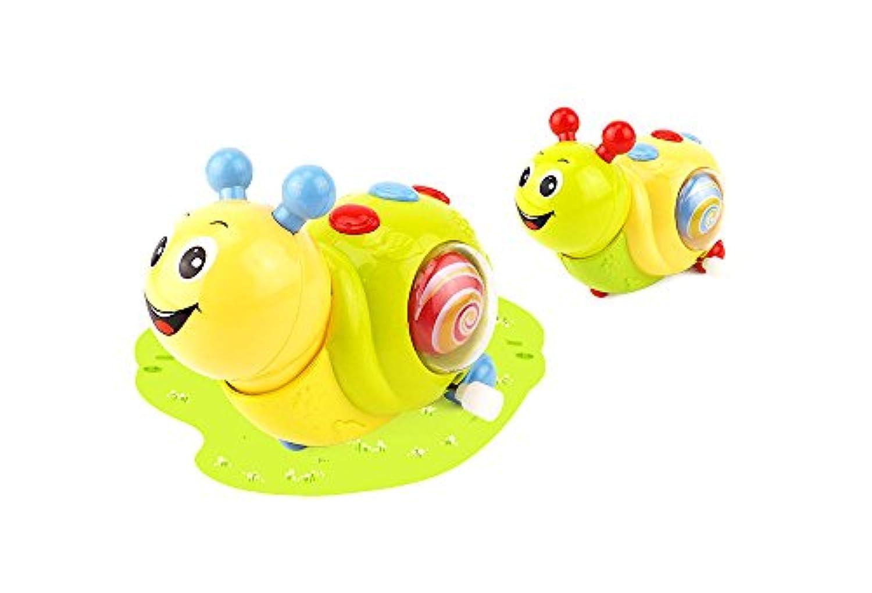 新しい/ Funnyランダムカラー漫画プッシュand Pull Toy / Wind Up Toy / Clockworkばね動物、Snail