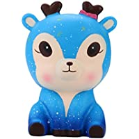 moonker Slow RisingキュートGalaxy Deer Squishies玩具、Squishy Kawaii Squeezeおもちゃforコレクション、ストレスリリーフ、大人と子供のためのギフト over 6 year old ブルー Moonker-MN-1139