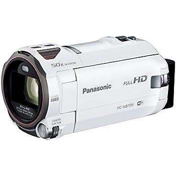 パナソニック HDビデオカメラ W870M ワイプ撮り 50倍ズーム ホワイト HC-W870M-W