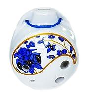 オカリナ ocarina 陶器製6穴 中国陶笛(土笛)青