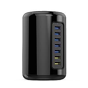 【日本正規代理店】 ORICO 多機能 『USB3.0 ハブ(7ポート) + BC1.2対応 急速充電(2ポート)』 一体型 高速データ転送 急速充電 高品質 12V/3A 電源付 セルフパワー PSE認定取得 RH7C2