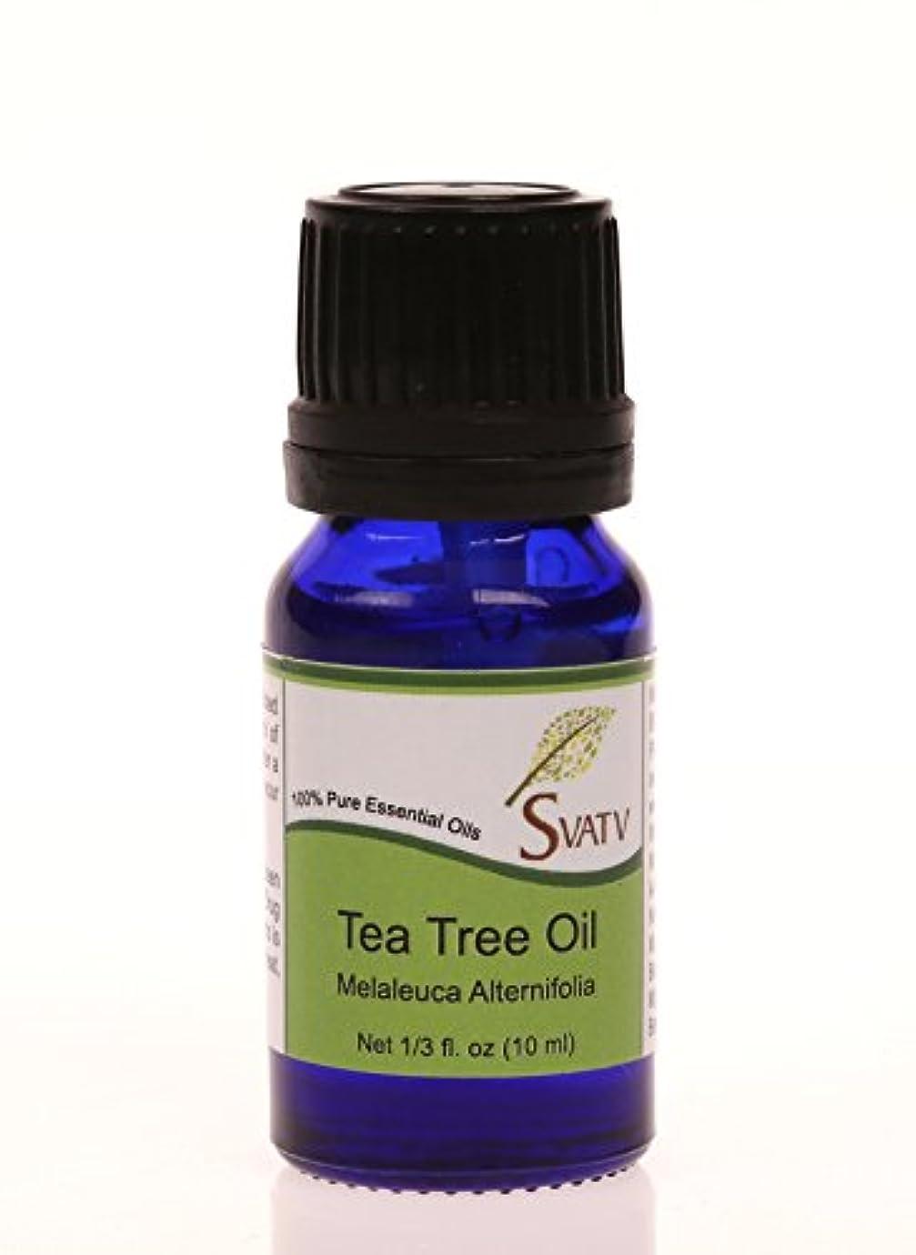 問い合わせリーク考案するSVATVティーツリー(Melaleuca alternifolia)エッセンシャルオイル10mL(1/3オンス)100%純粋な、希釈されていない、治療グレード